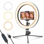 """LED Ring Light 10"""" with Tripod Stand & Phone Holder for Live Streaming & YouTube Video"""
