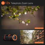 6 in 1 Universal 12x Zoom Telephoto+0.62x Wide Angle &20x Macro +235°Fisheye +Starburst Lens +CPL +Phone Holder +Tripod for iPhone X/8/7/6/6s plus Samsung Android & phone