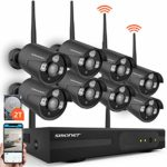 SMONET 8CH 1080P Home Security Camera System(2TB Hard Drive)