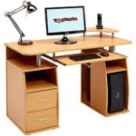 Cupboard and Drawers for Home Office in Beech Effect - Piranha Furniture Tetra PC 5b