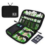 Visenta Cable Organizer Bag Travel Portable Small Electronics Accessories Organizer Case For Men And Women