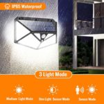 Kilponene【6-Side Illumination 1500LM Super Bright】Solar Security Lights Motion Sensor Solar Powered Lights Wall Lights Waterproof with 3 Modes for Outside (2 Pack)