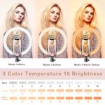 Dimmable Desk Makeup Ring Light for Photography