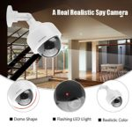 Dummy Security Camera CCTV Dome Camera Realistic Look with Flashing Red LED Light 360° Rotation and Waterproof Security Surveillance System