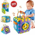 ACTRINIC Baby Toys 6-18 month Baby Activity Cube Toy