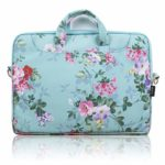 Side Pockets Handles and Detachable Strap Vintage Rose Floral