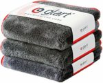 Glart 443TP Set of 3 Super Absorbent Microfibre Thick Plush Cloths for Car and Motorbike Paint Care