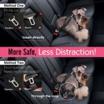 Pet Car Harness Vehicle Seat Belt with Adjustable Strap and Buckle Clip