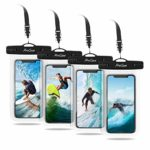 [4 Pack] ProCase Waterproof Phone Pouch Case