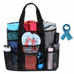 Large Mesh Beach Tote Bag with ice towel