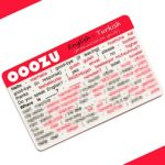 OOOZU Turkish Language Card   Lightweight Credit Card-Sized Turkish Phrasebook Alternative   Essential Words And Phrases For Holidays And Travel To Turkey