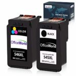OfficeWorld Replacement for Canon PG-545XL CL-546XL Ink Cartridges PG545 CL546 Compatible for Canon Pixma MG2550 MG2550S TS3150 MX495 MG3050 MG2950 MG2450 MG3053 MG3051 iP2850 (1 Black
