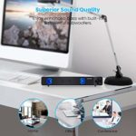 SR200 Wired Computer Speakers Portable Home Theater Stereo Soundbar Speaker USB Soundbar with One-button Control for PC Desktop Laptop Tablet Smartphones MP4 MP3