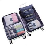WOWTOY 6PCS Packing Cubes Value Set for Travel Luggage Organiser Bag Compression Pouches Clothes Suitcase