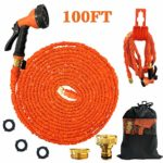 Liwison Expandable Garden Water Hose Pipe/100FT Lightweight Magic Hose with 3/4 to 1/2 Metal Connector 8 Function Spray Gun Nozzle Hose Holder/Bag For Home