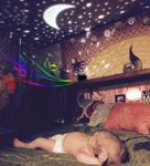 360 Rotating Star Lamp Baby Musical Lamp with Rechargeable Battery