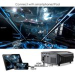 """GooDee Upgraded 5000 Lumens Video Projector 200"""" HD LCD Home Cinema Projector Support 1080P HDMI VGA AV USB MicroSD for Home Entertainment"""