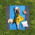Afufu Pocket Picnic Blanket Beach Mat Waterproof Folding Picnic Blanket Extra Large 210 x 200cm Outdoor Blanket Includes 4 Stake for Hiking