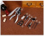 Deluxe Wine Bottle Opener kit with 9 Pieces
