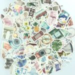 125 Pcs Watercolor Travel and Outdoor Adventure Stickers