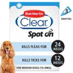 Bob Martin Clear Flea & Tick Fipronil Spot On for Medium Dog