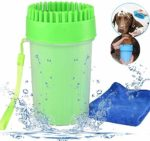 HUADADA Dog Paw Cleaner Portable Pet Cleaning Brush Cup Dog Foot Washer Massager Soft Silicone for Cleaning Dirty Pet Dog Cats Paws Feet Outdoor