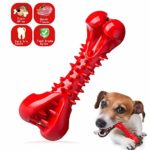 Szjiajian Dog Chew Toys Dental Sticks Dog Toothbrush for Boredom Small Puppy Mediums Dog Beef Flavour (Red)