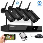 [Audio Recording] SANSCO HD 1080P Wireless CCTV NVR Security Camera System with Listen in Audio