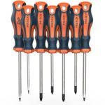 Presch Screwdriver Set 7 Pieces - Magnetic Screwdriver Sets with Slotted